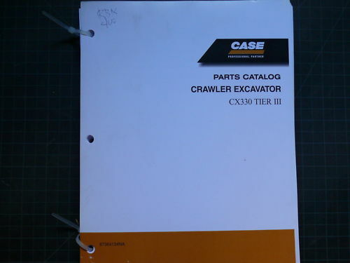 Case CX330 Crawler Excavator Trackhoe Spare Parts Manual Book List Catalog track