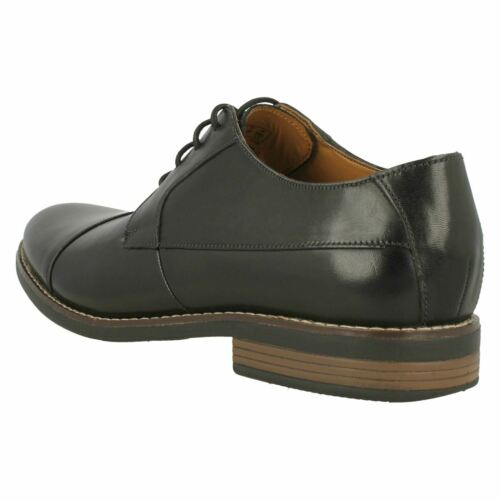 MENS CLARKS LEATHER LACE UP TOE CAP SMART FORMAL WEDDING SHOES SIZE BECKEN CAP