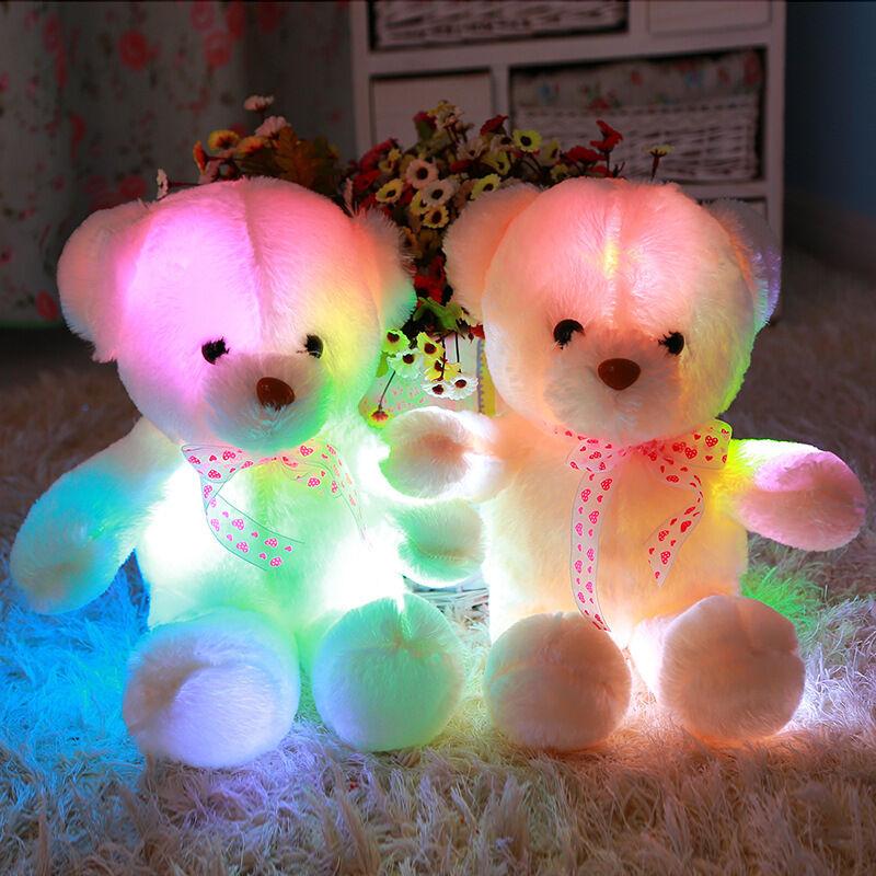Größen weihnachten süß gefüllt mit led - leuchte die schöne teddybär puppe geschenkt.
