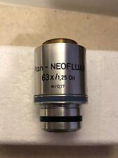 Zeiss Plan Neofluar 63x 125 Oil Infinity 017 Microscope Objective 44 04 60