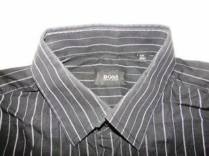 hugo boss slim fit herren hemd langarm schwarz wei. Black Bedroom Furniture Sets. Home Design Ideas