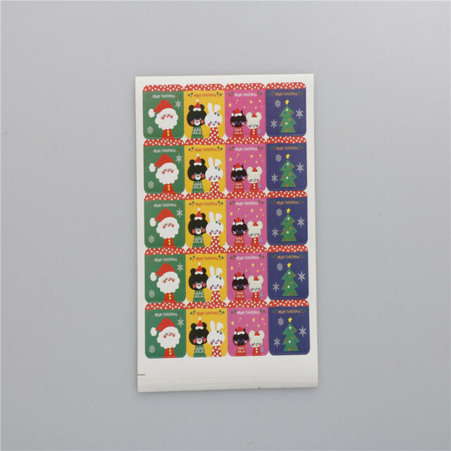60x DIY Scrapbooking Merry Christmas Gift Sticker Cookie Labels Stickers.LJ