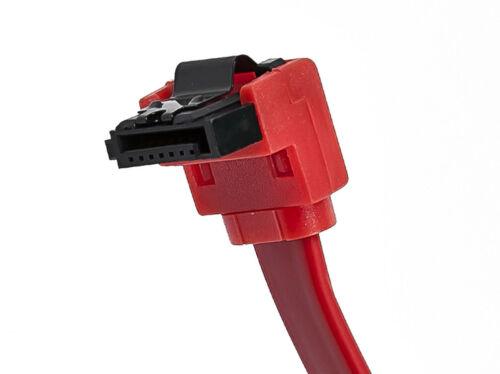 3x 18inch SATA 3.0 III SATA3 SATAiii HDD Drive Data Straight-Right Angle Cable