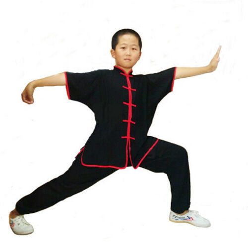 Chinese Wushu Martial Arts Uniforms 100/% Cotton Kung Fu Suit Kids /& Adults Suits