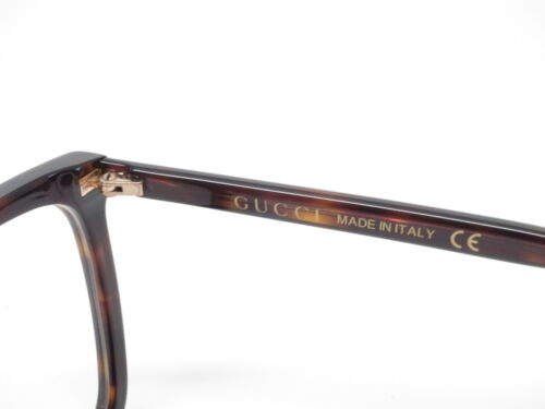 5 of 6 New Authentic Gucci GG0025O 002 Havana GG 0025O Eyewear Eyeglasses 270038634ad