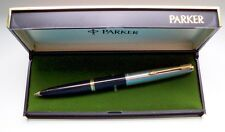 "PARKER "" 45 "" STANDARD DE LUXE ; in BLACK/STEEL/GOLD 14Kt NIB ! MADE IN U.S.A. !"