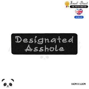 Designated-Asshole-Saying-Bikers-Embroidered-Iron-On-Sew-On-Patch-Badge