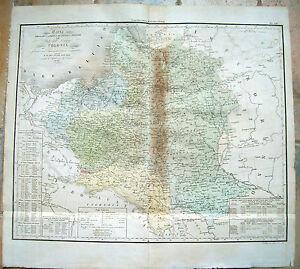1832-GRANDE-CARTA-GEOGRAFICA-DELLA-POLONIA-DI-C-CASTELLINI-RISORGIMENTO-POLACCO