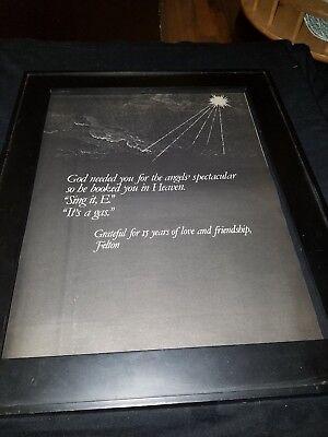 Felton Jarvis Rare Original Elvis Presley Memorial Promo Poster Ad Framed Ebay