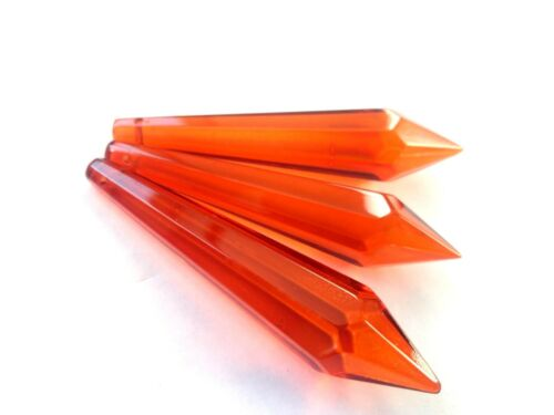 5 Orange 80mm Icicles Chandelier Crystals Pendant Suncatcher