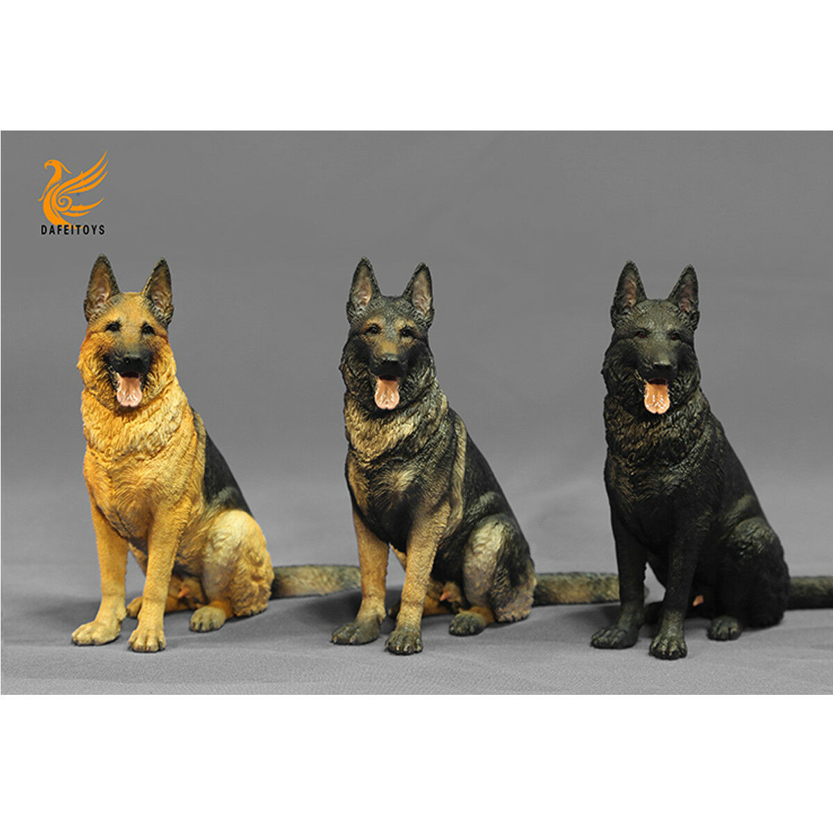 FLY TOYS 1/6th DF001 German Shepherd Prone & Sitting Position 3 Farbes Available