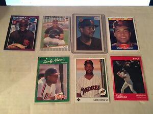 SANDY-ALOMAR-JR-7-CARD-ROOKIE-LOT-UPPER-DECK-STAR-MINORS-FLEER-SCORE-TOPPS