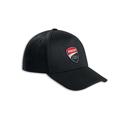 Ducati Corse Total Black Cap Schwarz Schirmmütze Cappie Neu Original