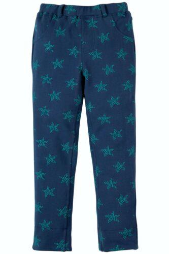 Navy Frugi Tresco Trousers Marine Blue Starfish Spot