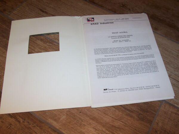 100% Kwaliteit Dossier De Presse / Press Kit Erad Agora 1992 // Modieuze (In) Stijl;