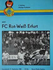 Programm 1988/89 1. FC Lok Leipzig - RW Erfurt