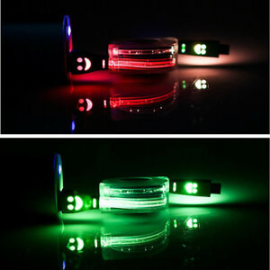 Retractable Visible LED Light Micro USB Data & Sync Charger Cable For Cell Phone