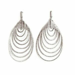 8 ct Dangle Earring Solid 925 Sterling Silver Pear Round New Wedding Jewelry Cz