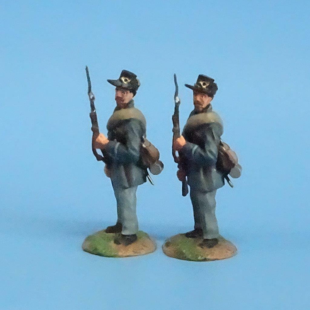 CORD-128 - Iron Brigade At the Ready (2 Figures) - ACW - Conte - 54mm Metal