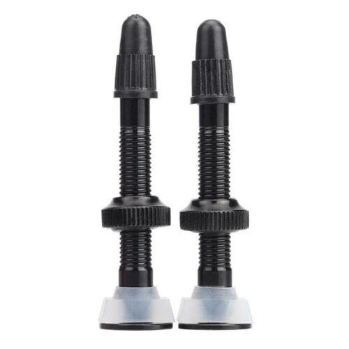 1PC Alloy Tubeless Valve Stem Vacuum Nozzle 40mm Presta MTB Bike Removable Core