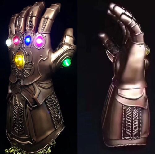 2019 Thanos Infinity Gauntlet Gloves Legends LED Light Avengers Cosplay PVC 600g