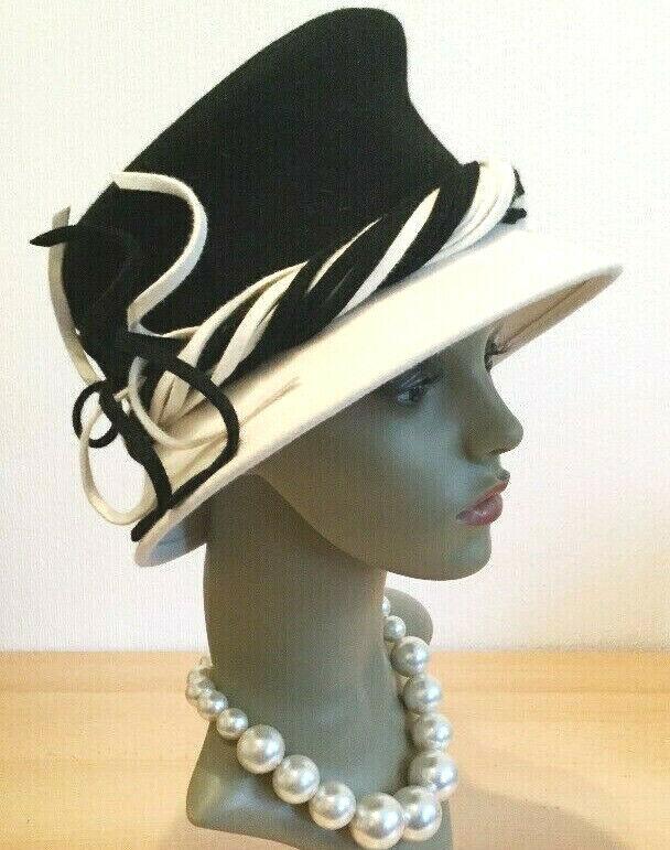 Elegant Exclusive Unique Luxury Designer Hat MARZI Firenze Italy Vintage Downton