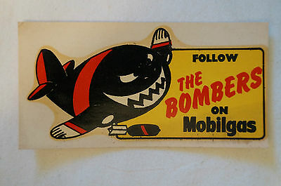 Essendon - 1964 -Vintage -Weg Mobilgas VFL Club Mascot Decal.Half a Century Old
