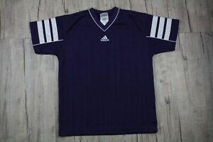 Vintage Adidas Purple Soccer Jersey V-Neck Men's Size Large   eBay