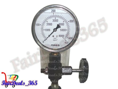 0-400 BAR MASS PRESSURE GAUGE HQ-DIESEL INJECTOR NOZZLE POP PRESSURE TESTER