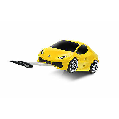 Official Lamborghini Huracan Car Kids Pull-Along Travel Suitcase - Yellow