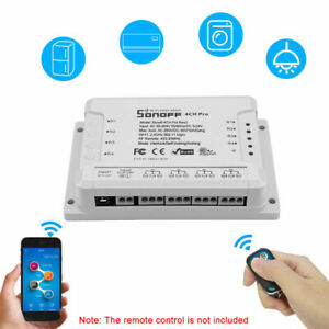 Details about SONOFF 4CH Pro R2 ITEAD RF 433MHz 4 Gang WiFI Switch 3  Working Modes Q5X0