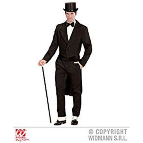 Large Black Men/'s Tailcoat Mens Fancy Dress Costume Cavalier Carnival
