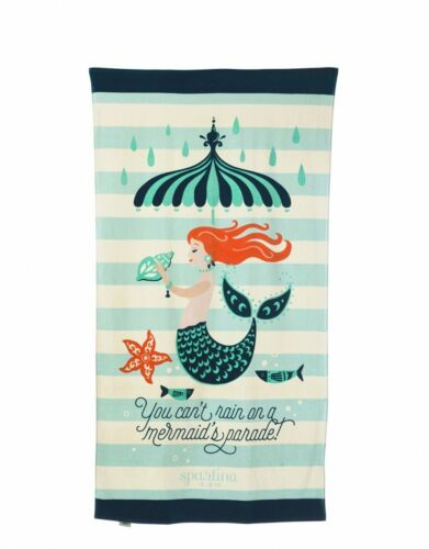 Spartina 449 Oversized Large Colorful Beach Towel in Mermaid Parade BRAND NEW