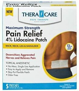 TheraCare 4% Maximum Strength Pain Relieving Patch (5 Patches per Box)