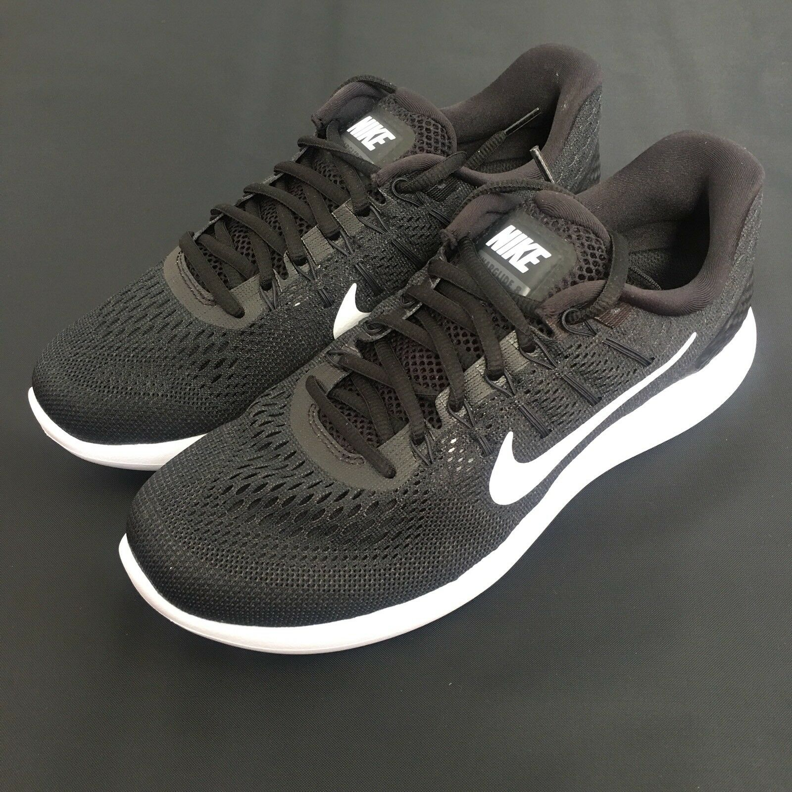 Nike Mens Lunarglide 8 AA8676-001 NWT Black White Anthracite Rare 10.5 C71