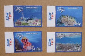 2017-FIJI-GREAT-SEA-REEF-SET-OF-4-MINT-STAMPS-MNH