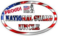 National Guard Uncle Military Vinyl Decal Proud