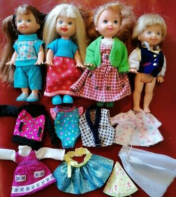 Barbie Mattel Shelly Tommy Dolls With Clothes Ebay