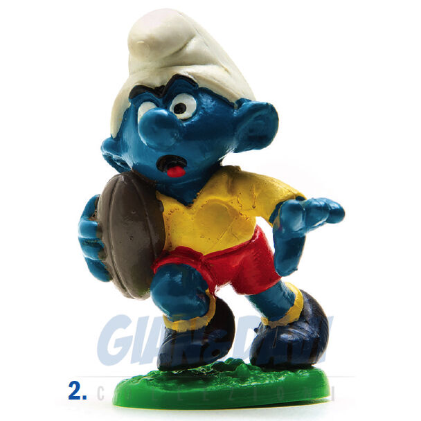 PUFFO PUFFI SMURF SMURFS SCHTROUMPF 2.0065 20065 Rugby Smurf Puffo Rugbista 2A
