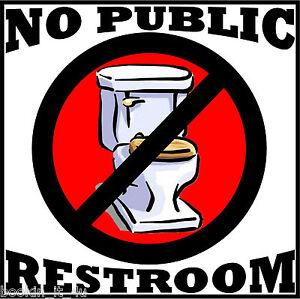 Bathroom Sign Ebay no public restrooms bathroom vinyl decal / sign**** | ebay
