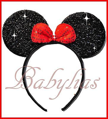 Minnie Mouse Mickey Headband Bows Favors Ears Birthday Party Supplies Kids Gifts