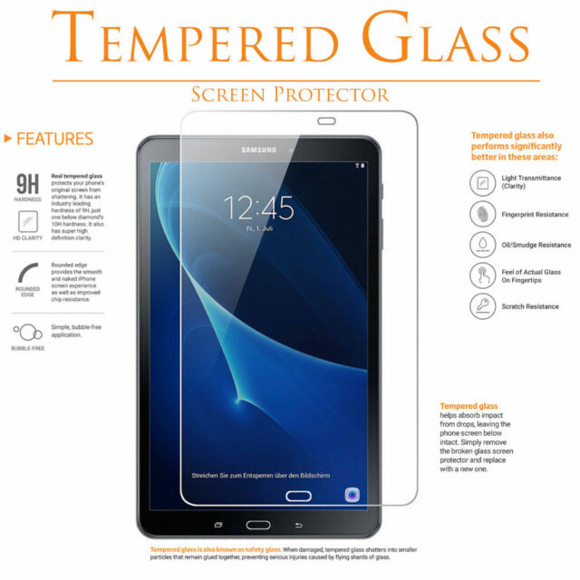 9H Genuine Tempered Glass Screen Protector For Samsung Galaxy Tab Tablet Series
