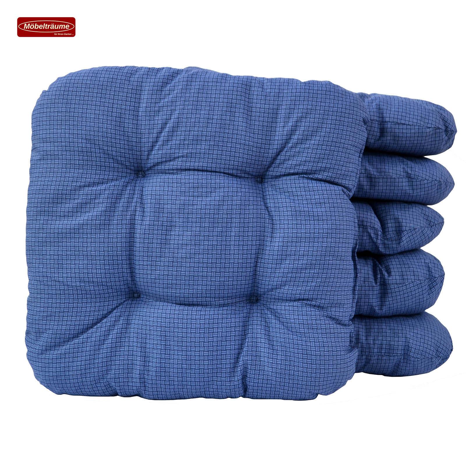 Bis Bis Bis zu 200 Sitzkissen blau kariert 38 x 38 x 8 cm Kissen Stuhlkissen 50237-100 da9b99