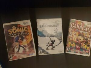 Disney's EPIC MICKEY / SONIC / CARNIVAL 3- Nintendo Wii ...
