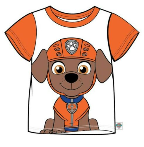 PAW PATROL Boys//Girls ZUMA Short-Sleeved Face T-Shirt//Top Sizes 2-7 years NWT