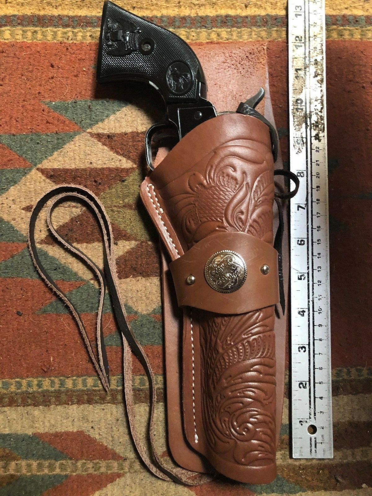 FITS  Heritage Rough Rider 6.5  Barrel Cowboy Western Leather Drop Holster
