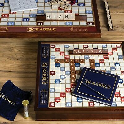 Winning Solutions Scrabble Deluxe Edition Wooden Board Game New Ebay