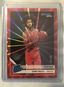 2019-Panini-Donruss-Press-Proof-Red-Laser-COBY-WHITE-Rookie-Card-BULLS-26-99