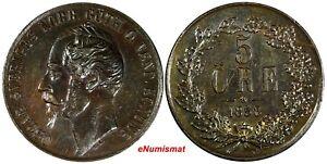 Sweden-Oscar-I-Bronze-1858-7-5-Ore-Overdate-UNC-Condition-28-9mm-KM-690