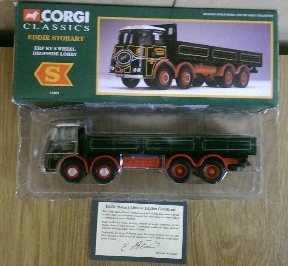 Corgi Classics 11001 Eddie Stobart ERF KV 8 Wheel Dropside Lorry
